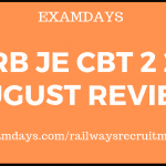 rrb je cbt 2 29 august review
