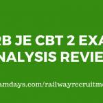 rrb je cbt 2 exam review