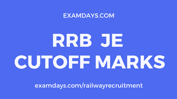 rrb je cut off marks
