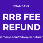 rrb fee refund