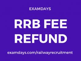 rrb fee refund