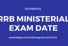 rrb ministerial exam date