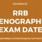 rrb stenographer exam date