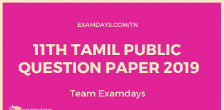 11TH TAMIL PUBLIC QUESTION PAPER 2019