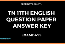 11th english question paper answer key