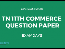 tn 11 commerce question paper