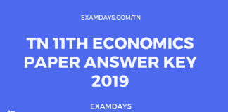 tn 11 economics paper answer key