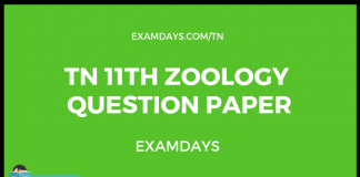 tn 11 zoology question paper