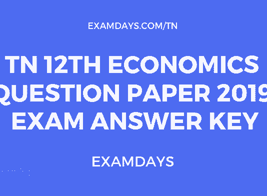 tn 12 economics paper answer key