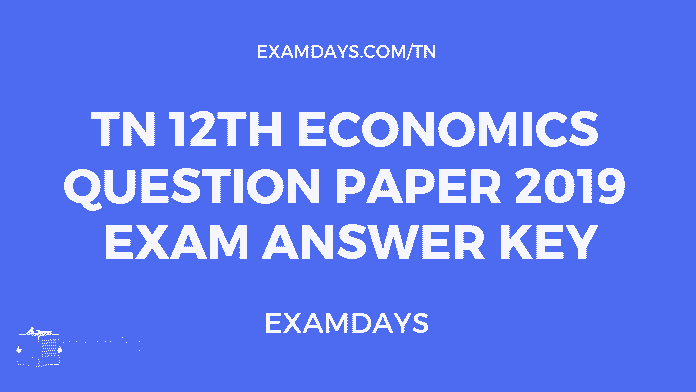 tn 12 economics paper answer key