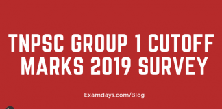tnpsc group 1 cutoff marks survey