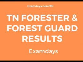 TN Forester & Forest Guard Results