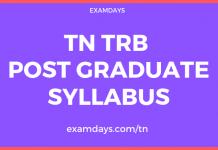 tn trb post graduate assistant syllabus