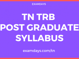 tn trb post graduate assistant syllabus