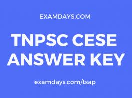 tnpsc cese answer key