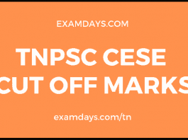 tnpsc cese cut off marks