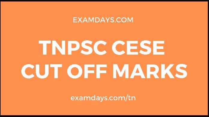 tnpsc cese cut off marks