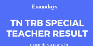 tn trb special teacher result