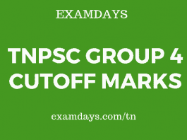 tnpsc group 4 cutoff marks