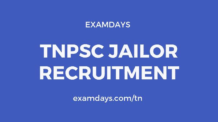 tnpsc jailor notification