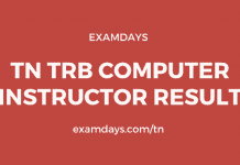 TN TRB Computer Instructor Result