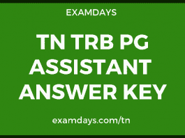 TN TRB PG Assistant Answer Key