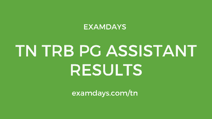 TN TRB PG Assistant Result