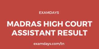 madras high court assistant result