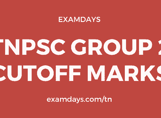 tnpsc group 2 cutoff