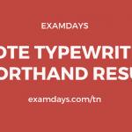 TNDTE Typewriting Shorthand Result