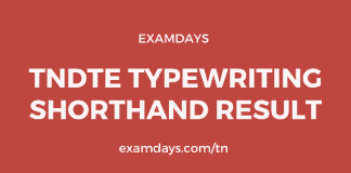TNDTE Typewriting Shorthand Result