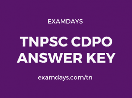 tnpsc cdpo answer key