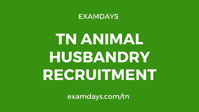 tn animal husbandry recruitment