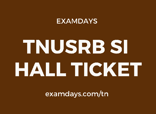 tn si hall ticket