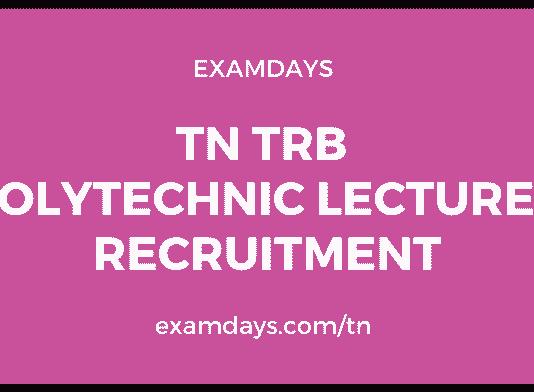 tn trb polytechnic lecturer recruitment