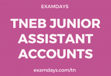 tneb junior assistant accounts recruitment