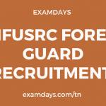 tnfusrc forest guard recruitment