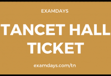 tancet hall ticket