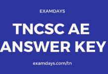 tncsc ae answer key