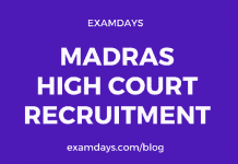 madras high court notification