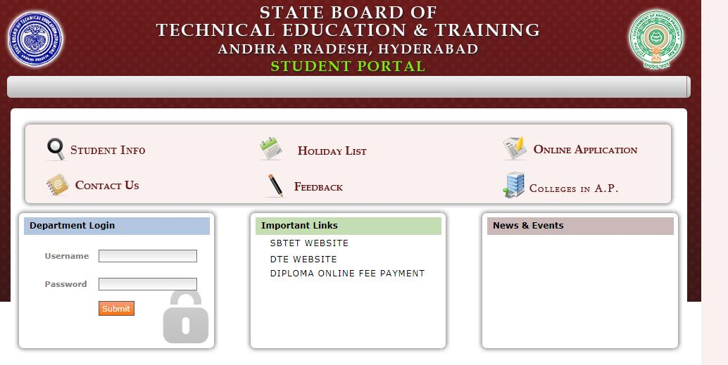 AP or TS Sbtet student portal https://apsbtet net/studentportal