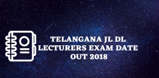 Telangana JL DL Lecturers Exam Date Out 2018