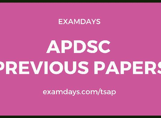 ap dsc previous papers