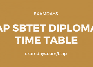 ap sbtet time table