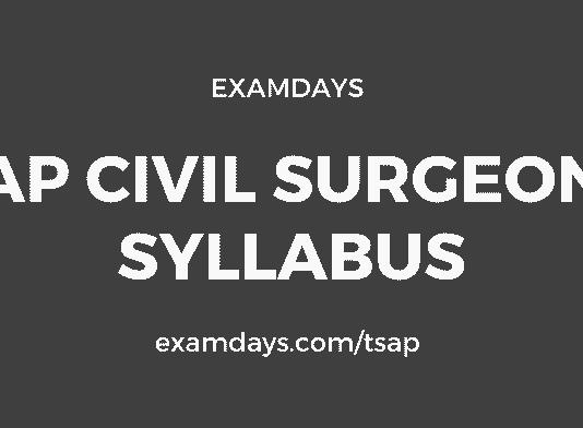 ap civil assistant surgeon syllabus