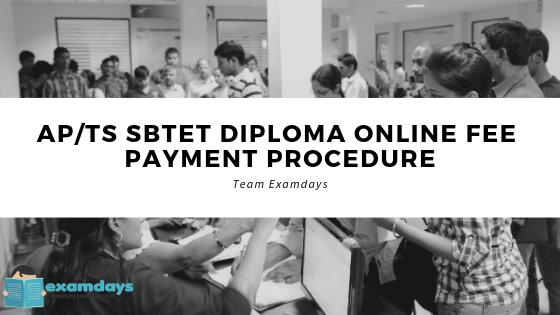 APTS SBTET Diploma Online Fee Payment Procedure