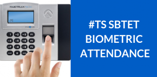 TS SBTET Bio Metric Attendance for Students and Staff Members