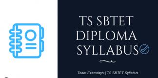 TS SBTET Syllabus 2018