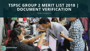 TSPSC Group 2 Merit List 2018