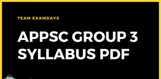 APPSC Group 3 Syllabus PDF Download